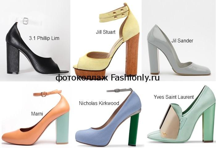 Фото весенних туфель 2012 года