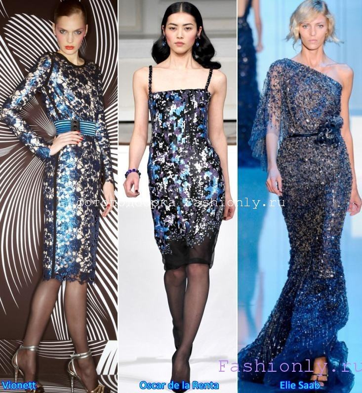 Модные платья на Новый Год 2012 фото