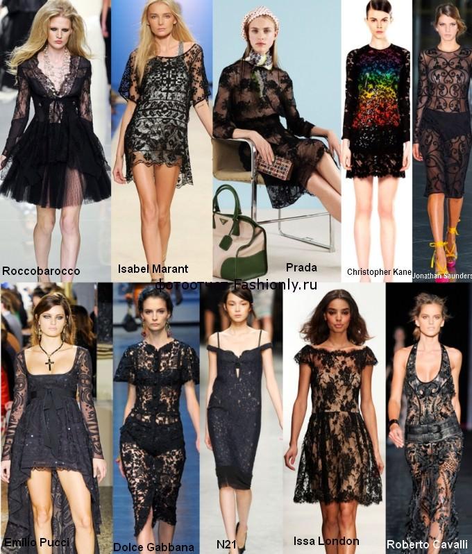 Черные кружевные платья 2012 года - сезон весна лето
