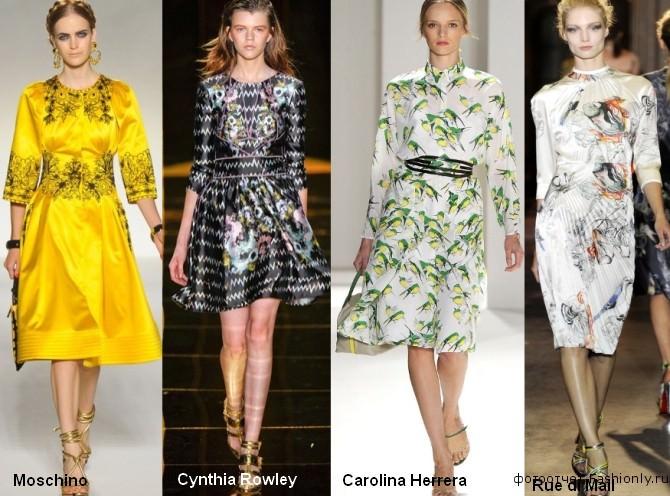 Атласные платья в 2012 году - самые модные вещи весны