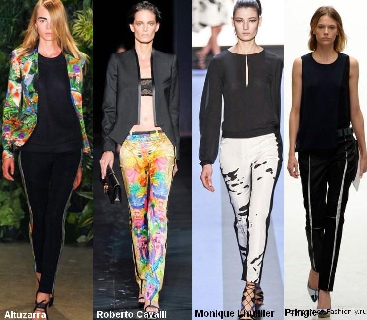 Самые модные вещи весны 2012 - брюки с лампасами