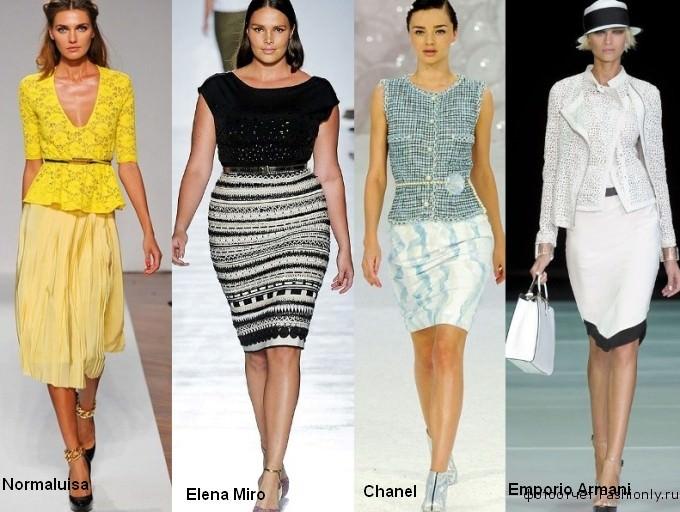 Стили модной одежды весны 2012