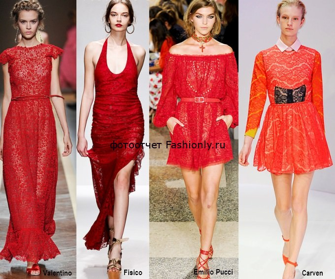 расные кружевные платья весна 2012 года