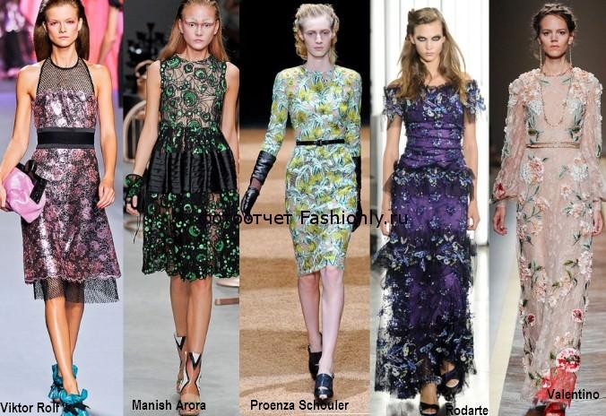 Платья из цветного кружева фото