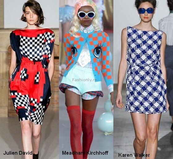 Модные шахматные принты весны 2012