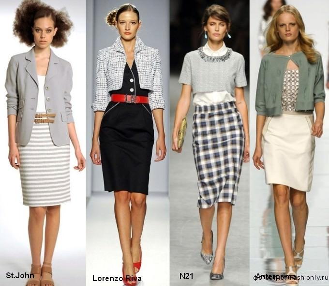 Фото одежды в офисном стиле - весна лето 2012.  Офисный стиль 2012.