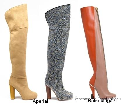 Модные ботфорты - весна 2012