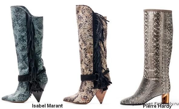 Модные сапожки из кожи рептилий - весна лето 2012