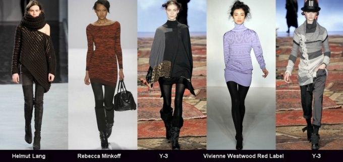 Фото подиумных моделей туник 2012 года