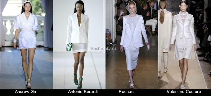 Женский костюм беллого цвета - весна 2012