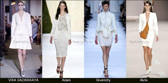 Белый женский костюм - весна 2012 года