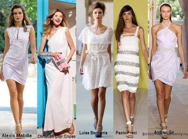 Бирюзовые платья для лета 2012 года
