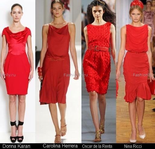 Платья красного цвета 2012 (5)