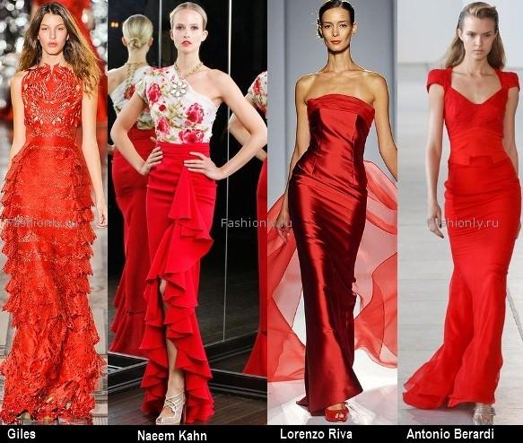 Платья красного цвета 2012 (4)