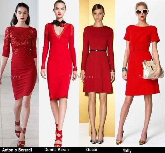 Платья красного цвета 2012 (3)