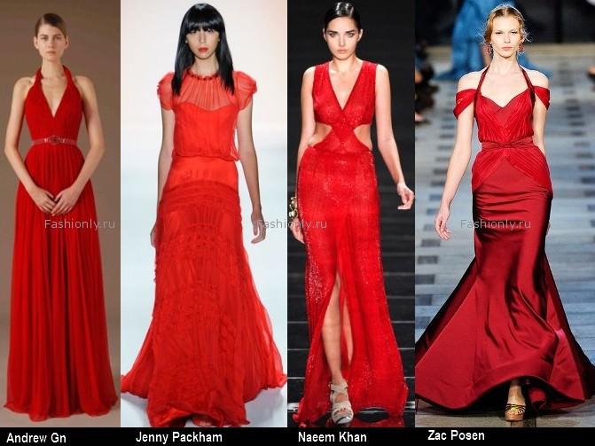 Платья красного цвета 2012 (2)
