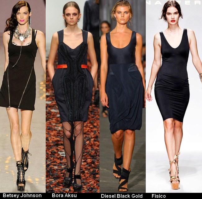 Платья черного цвета 2012 (2)