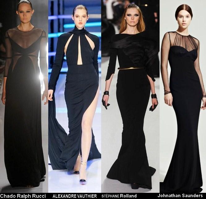 Платья черного цвета 2012 (7)
