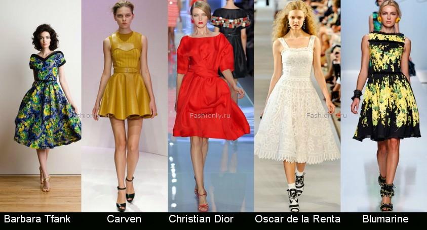 Модные фасоны платьев 2012 фото (15)