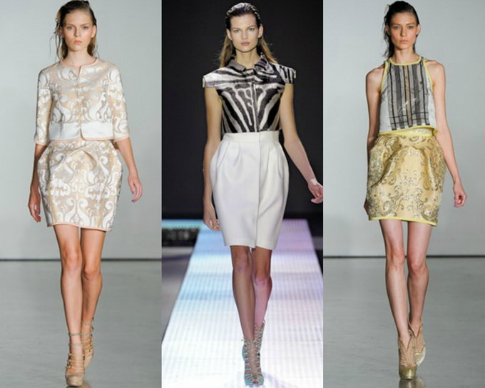 С чем носить юбку тюльпан (4)