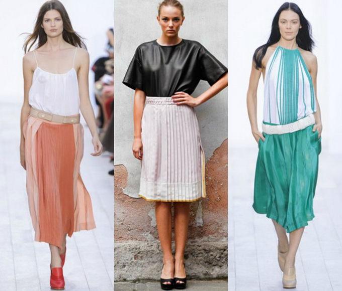 Плиссированная юбка с чем носить? (4)