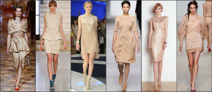 Бежевое платье с чем носить? (3)