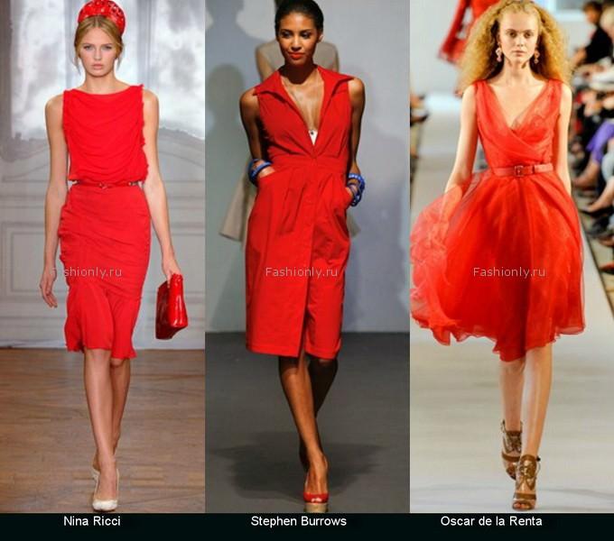 Красные платья 2012 весна лето