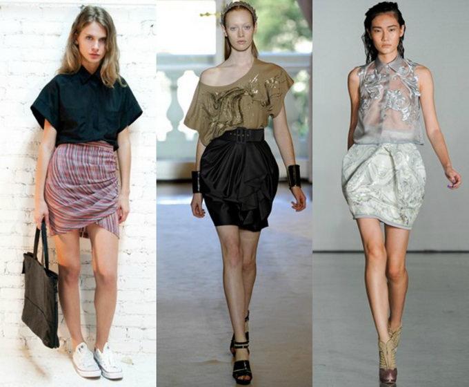 С чем носить юбку тюльпан (3)