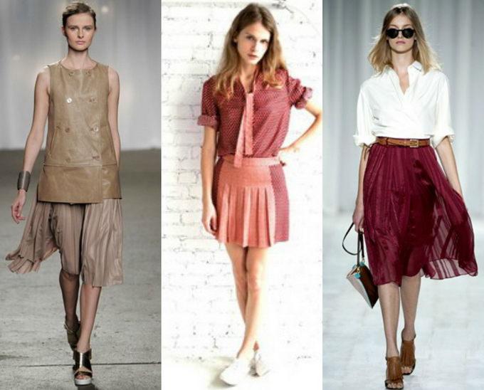 Плиссированная юбка с чем носить? (3)