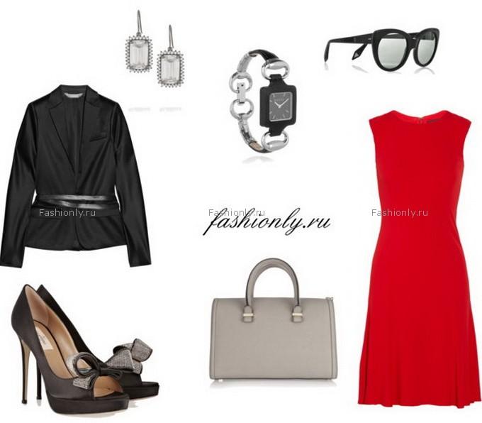 Повседневный вариант красного платья