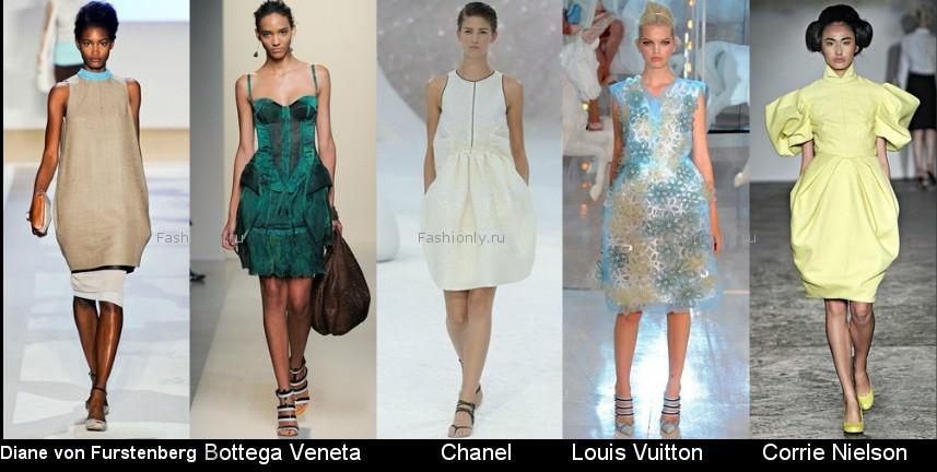 Модные фасоны платьев 2012 фото (13)