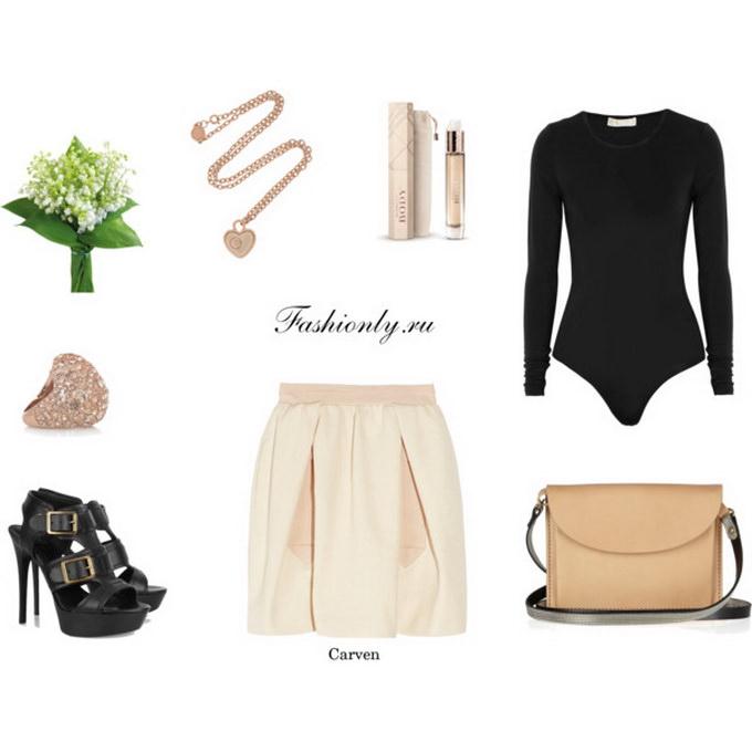 С чем носить юбку тюльпан (2)