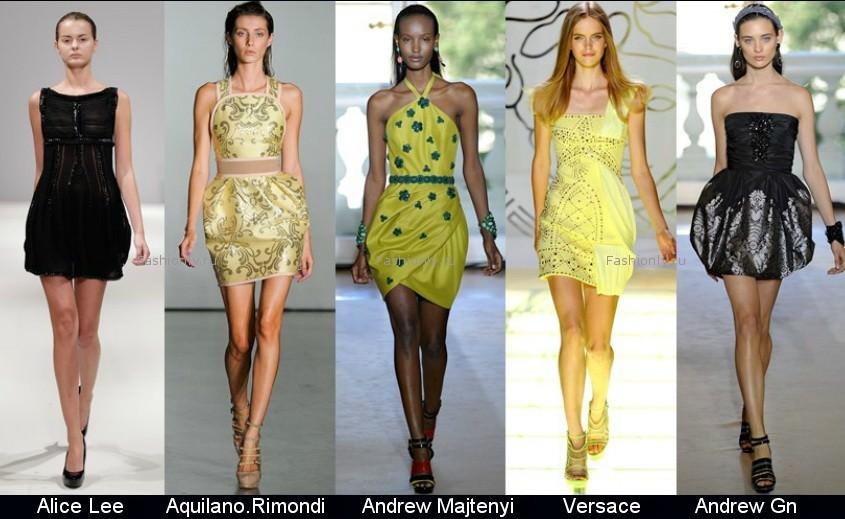 Модные фасоны платьев 2012 фото (12)