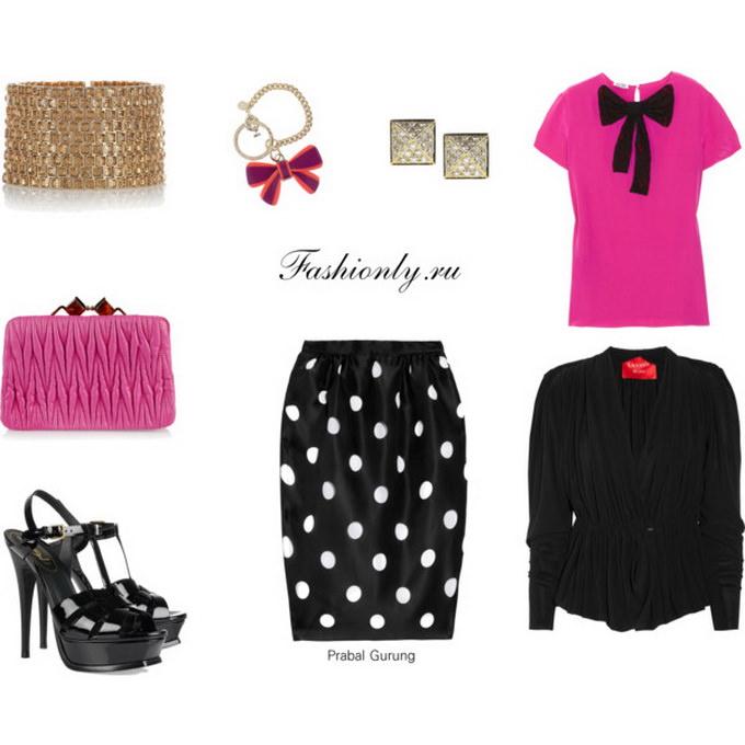 С чем носить юбку тюльпан (1)