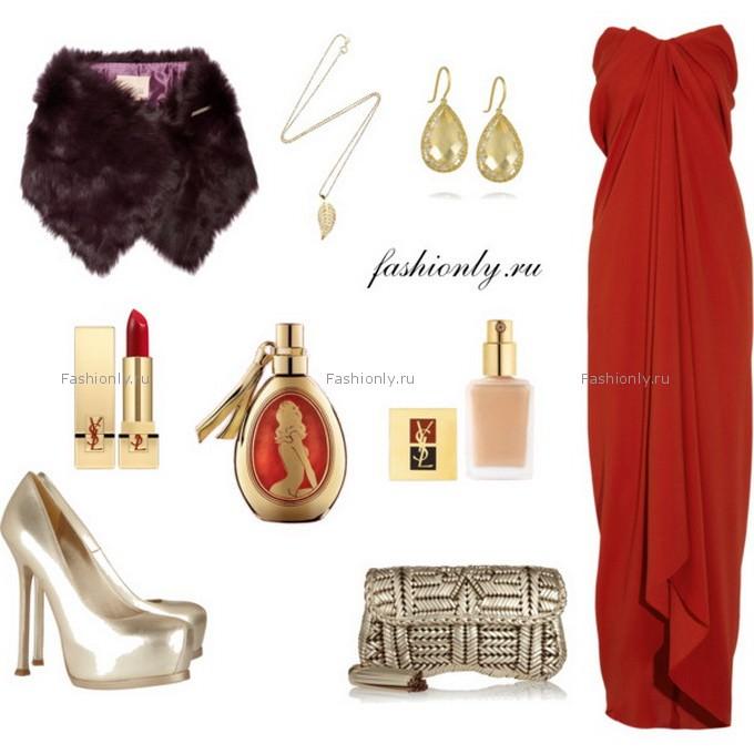 Вечерний вариант красного платья