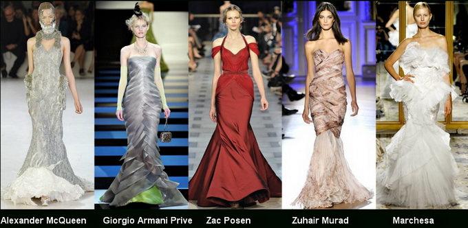 Модные вечерние платья 2012 фото (9)