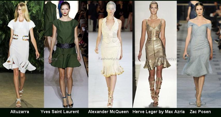 Модные фасоны платьев 2012 фото (11)