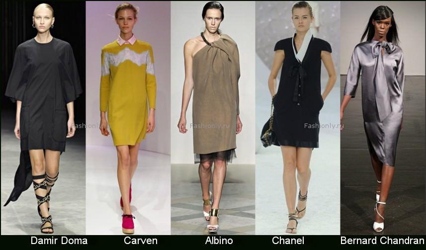 Модные фасоны платьев 2012 фото (10)
