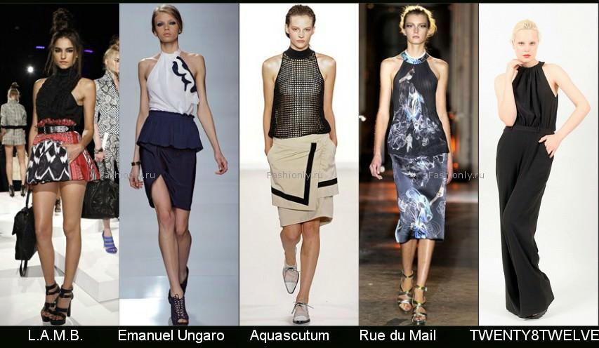 Модные летние топы и майки 2012 года.