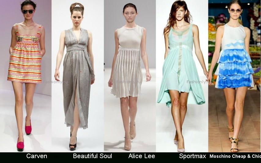 Модные фасоны платьев 2012 фото (7)