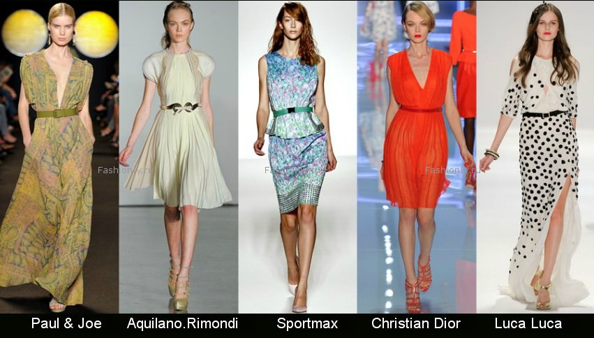 Модные фасоны платьев 2012 фото (6)