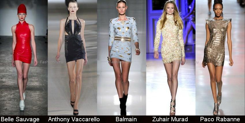 Модные фасоны платьев 2012 фото (5)