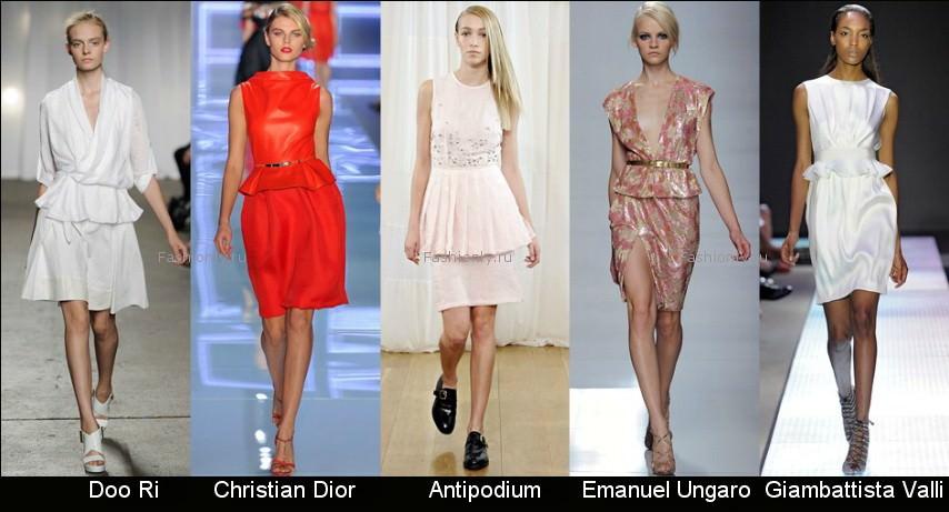 Модные фасоны платьев 2012 фото (1)