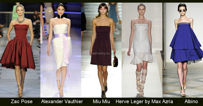 Модные фасоны платьев 2012 — весна/лето Image