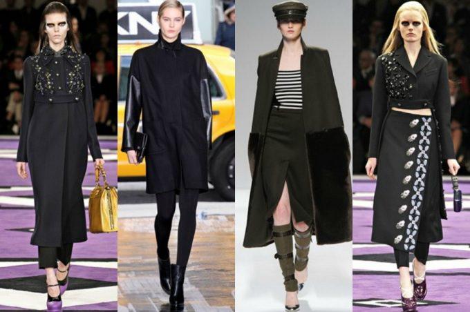 Черное пальто с чем носить (4)