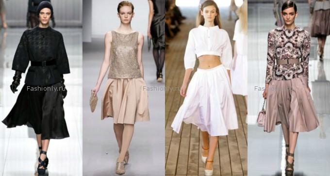 C чем носить юбку солнце? Image