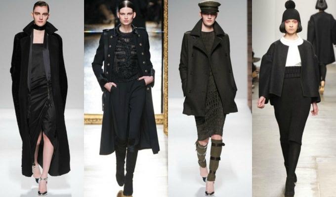 Черное пальто с чем носить (3)
