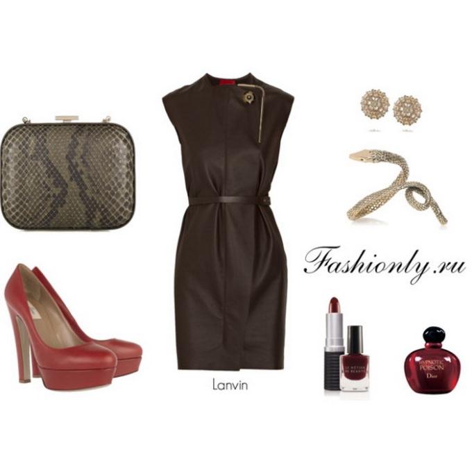 С чем носить кожаное платье (4). Кожаное платье с чем носить (4)