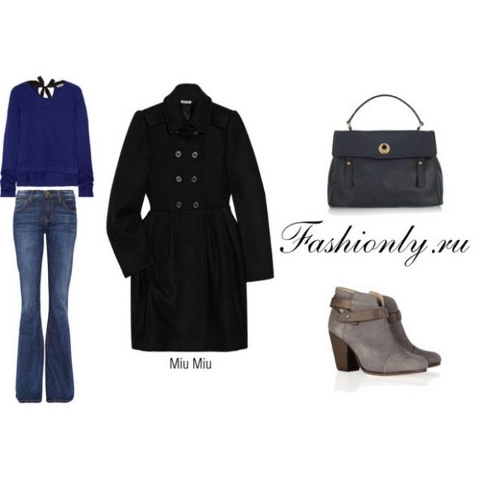 Черное пальто с чем носить (1)