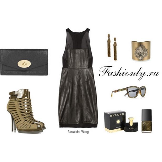 С чем носить кожаное платье (1). Кожаное платье с чем носить (1)